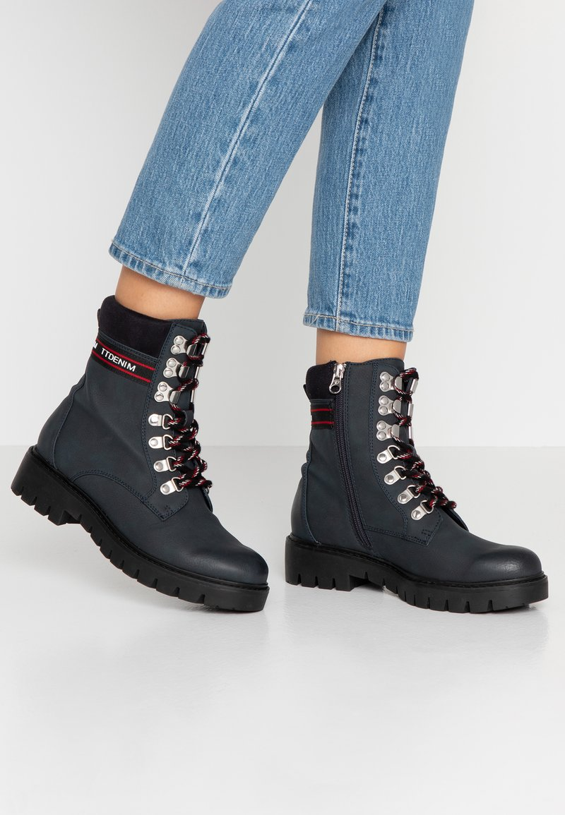 TOM TAILOR DENIM - Lace-up ankle boots - dark blue