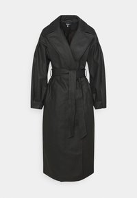 Missguided - BELTED BALLOON SLEEVE - Trenchcoat - black - 0