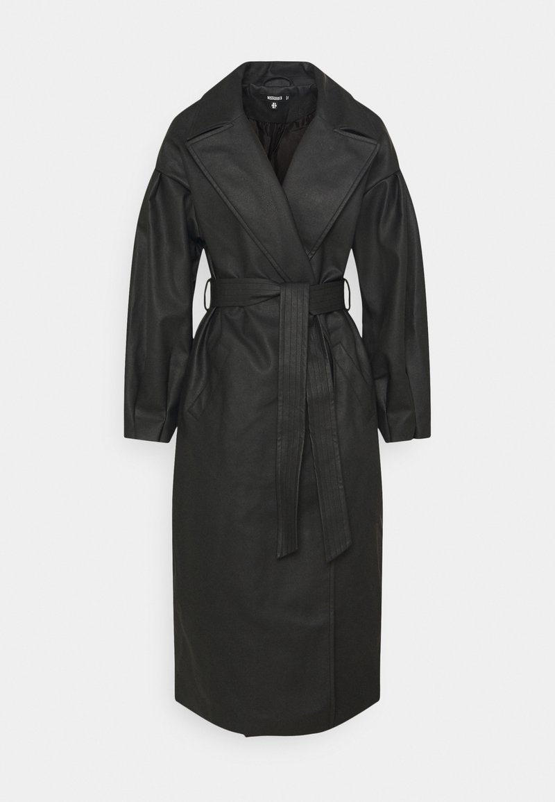Missguided - BELTED BALLOON SLEEVE - Trenchcoat - black