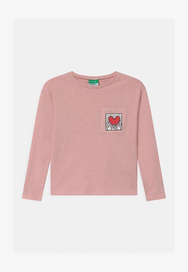 KEITH KISS GIRL - Longsleeve - light pink