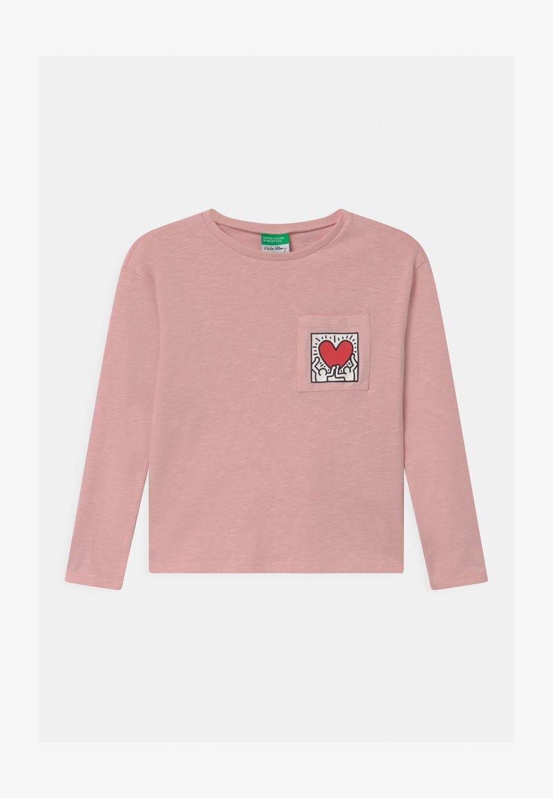 Benetton - KEITH KISS GIRL - Top sdlouhým rukávem - light pink