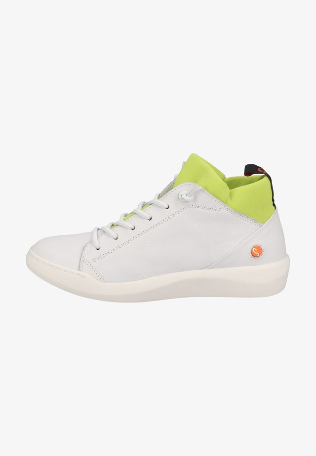 Sneakers laag - white/yellow neoprene