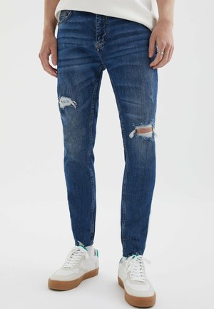 RISSEN - Slim fit jeans - light blue denim
