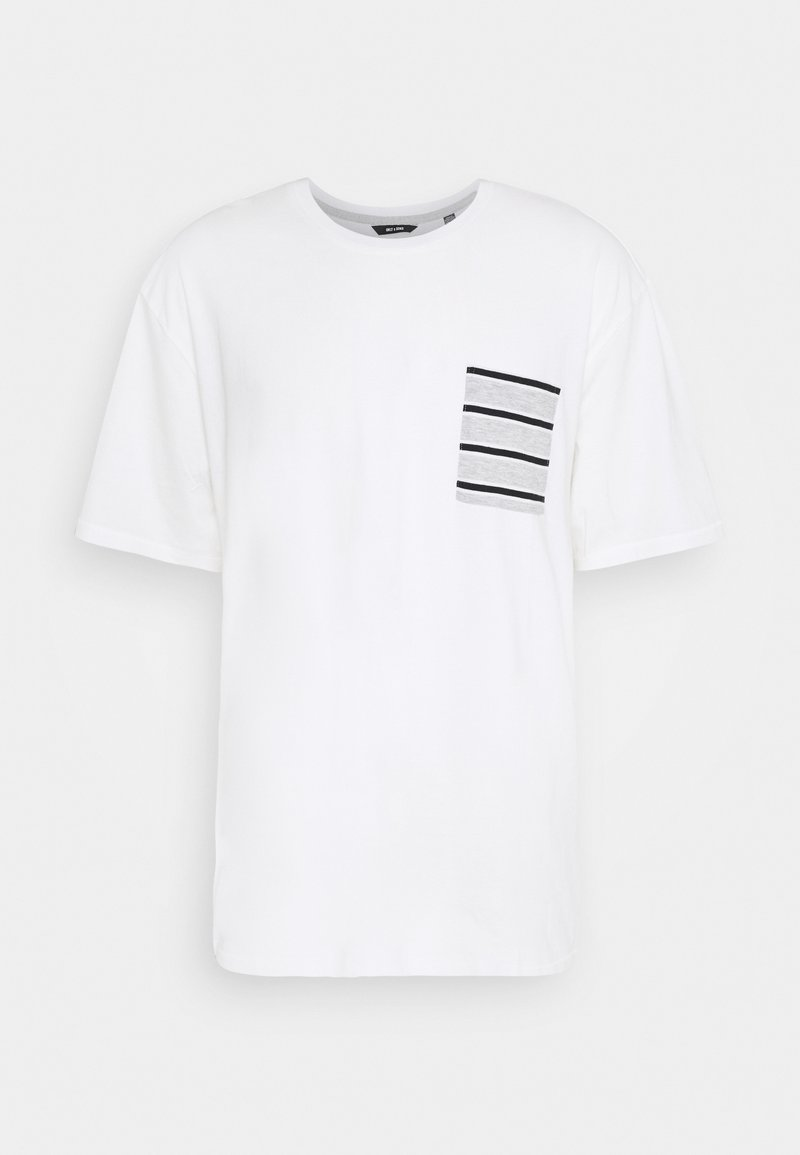 Only & Sons - ONSMELTIN LIFE POCKET TEE - T-shirt print - cloud dancer