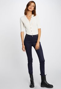 Morgan - WITH WET EFFECT - Trousers - dark blue - 1