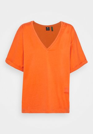 JOOSA V-NECK TEE - Jednoduché triko - acid orange
