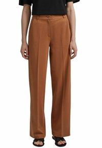 Esprit Collection - SOFT PUNTO - Trousers - caramel - 6