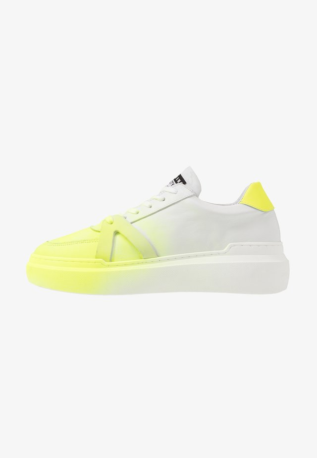 BLOCK - Baskets basses - white/neon