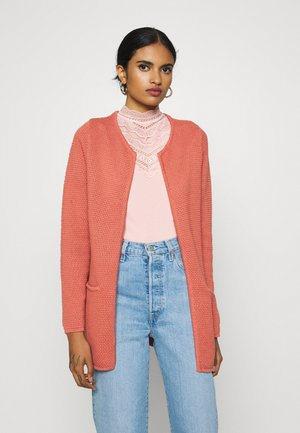 BYMIKALA STRUCTURE CARDIGAN - Gilet - canyon rose