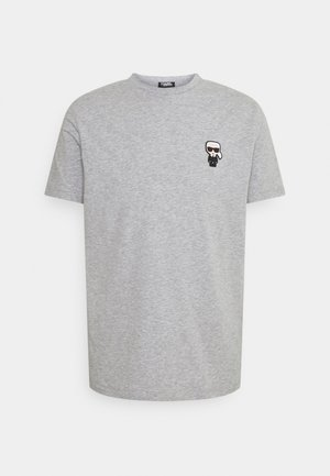 CREWNECK - T-shirt z nadrukiem - dark grey melange