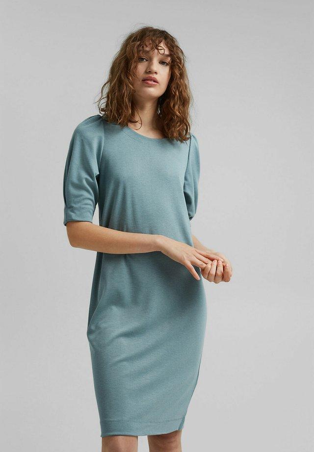 Gebreide jurk - dark turquoise