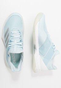 adidas Performance - ADIZERO UBERSONIC 3 - Multicourt tennis shoes - sky tint/silver metallic/footwear white - 1