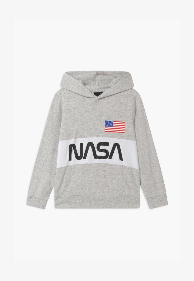 NASA LASSO HOOD - Sweat à capuche - light grey