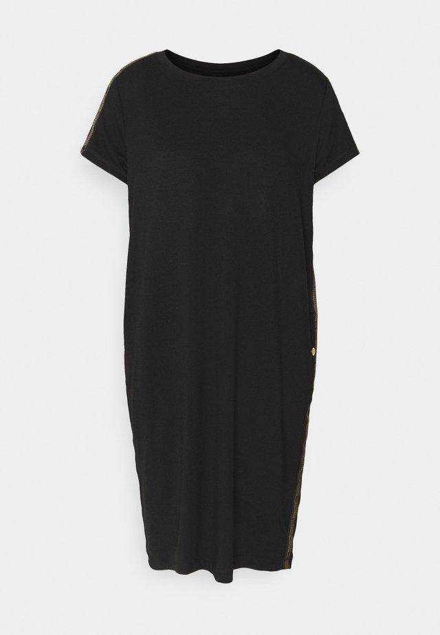 GRID DRESS - Jerseyjurk - black