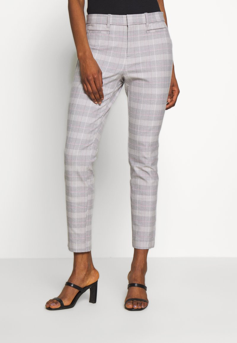 GAP - ANKLE  BISTRETCH - Trousers - grey plaid