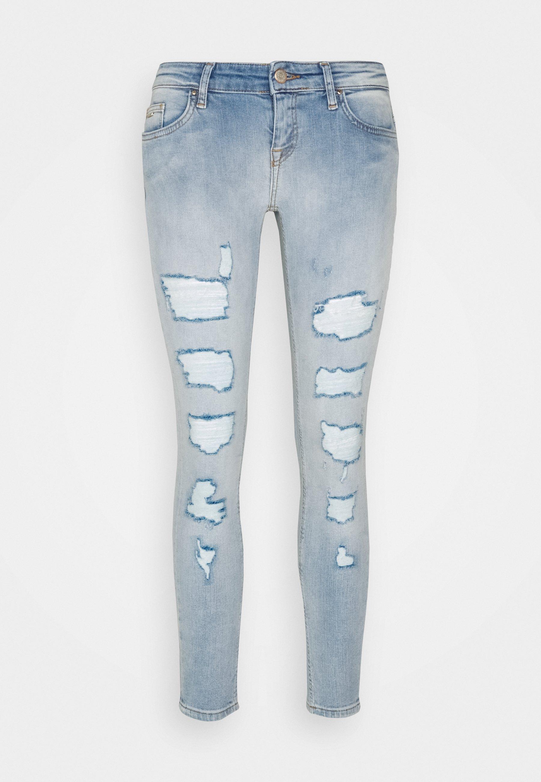 Women ONLCORAL LOW DESTROYD - Jeans Skinny Fit