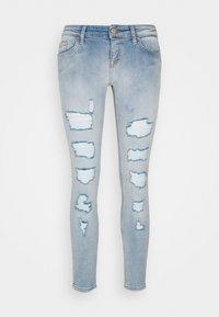 ONLY Petite - ONLCORAL LOW DESTROYD - Jeans Skinny Fit - light blue denim - 0