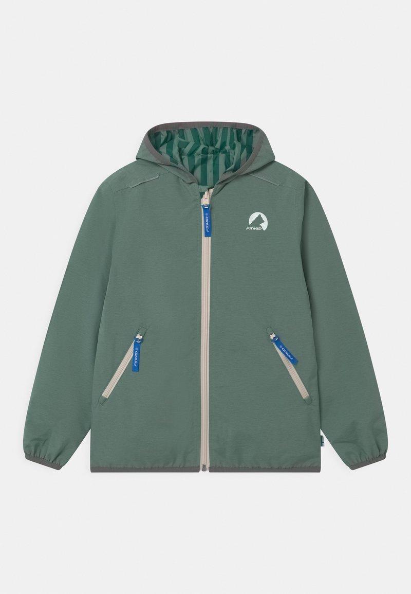 Finkid - VALAS REVERSIBLE UNISEX - Outdoor jacket - trellis/charcoal