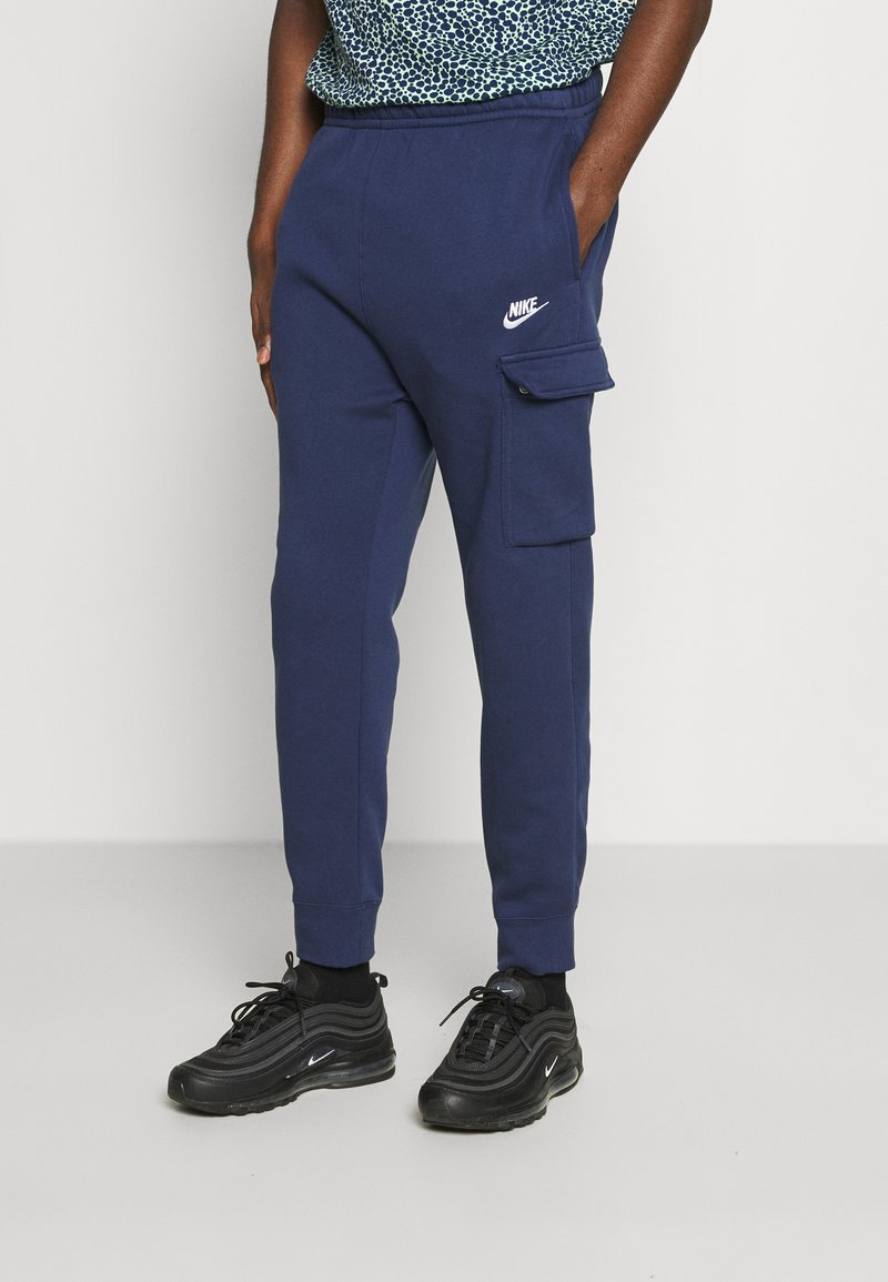 Nike Sportswear - CLUB PANT - Cargo trousers - midnight navy/white
