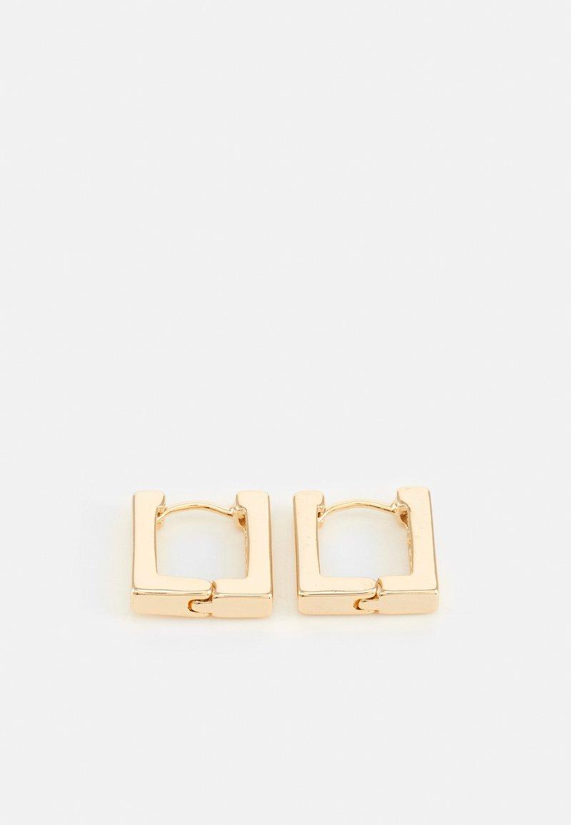 Orelia - LINEAR SQUARE HOOP EARRINGS - Earrings - pale gold-coloured