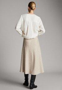 Massimo Dutti - A-line skirt - beige - 1