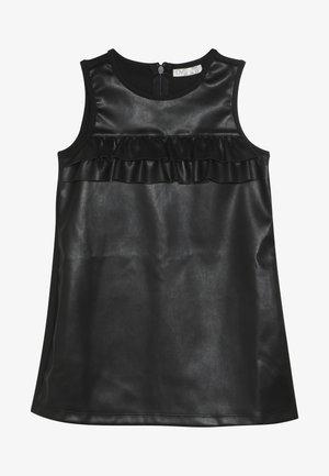 FAKE LEATHER DRESS - Denní šaty - pirate black