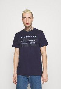 G-Star - ORIGINALS STRIPE LOGO - T-shirt con stampa - sartho blue - 0