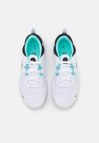 Nike Performance - REACT MILER 2 - Neutral running shoes - white/black/dynamic turquoise - 3