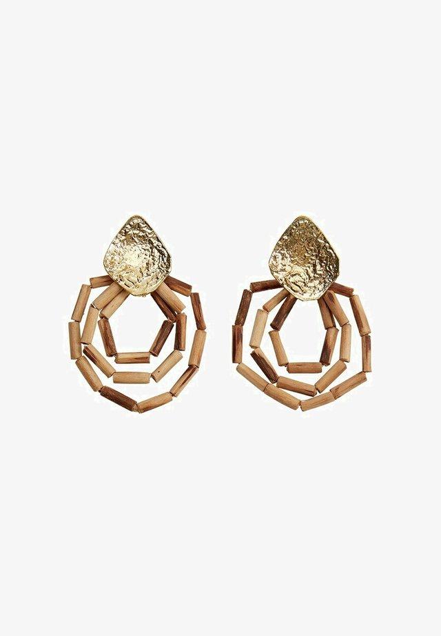CORAL - Boucles d'oreilles - marrone