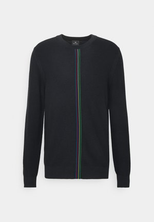 MENS CREW NECK - Neule - black, multi-coloured
