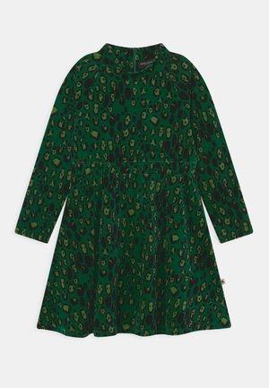LEOPARD DRESS - Day dress - green