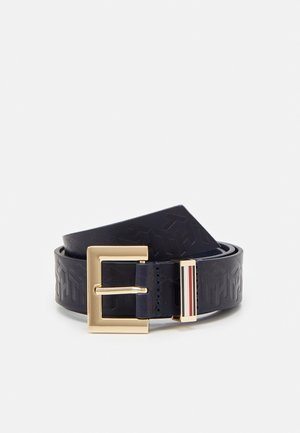 SQUARE BELT MONOGRAM - Pasek - blue