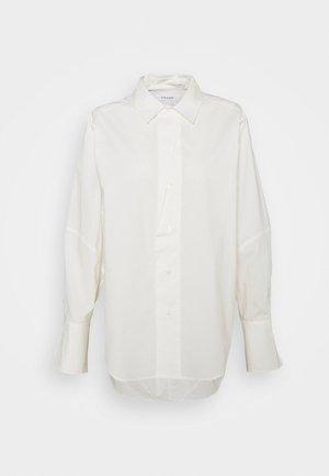 Button-down blouse - blanc