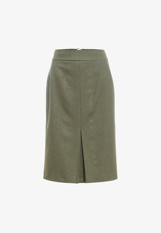 Pencil skirt - oliv