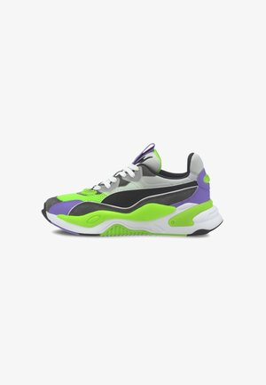 Trainers - dark shadow-fluo green