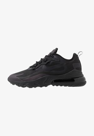 AIR MAX  REACT - Matalavartiset tennarit - black/oil grey/white