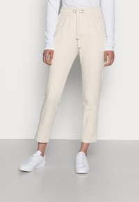 Marc O'Polo - PANTS CUTLINES ELASTIC WAISTBAND - Tracksuit bottoms - chalky sand - 0