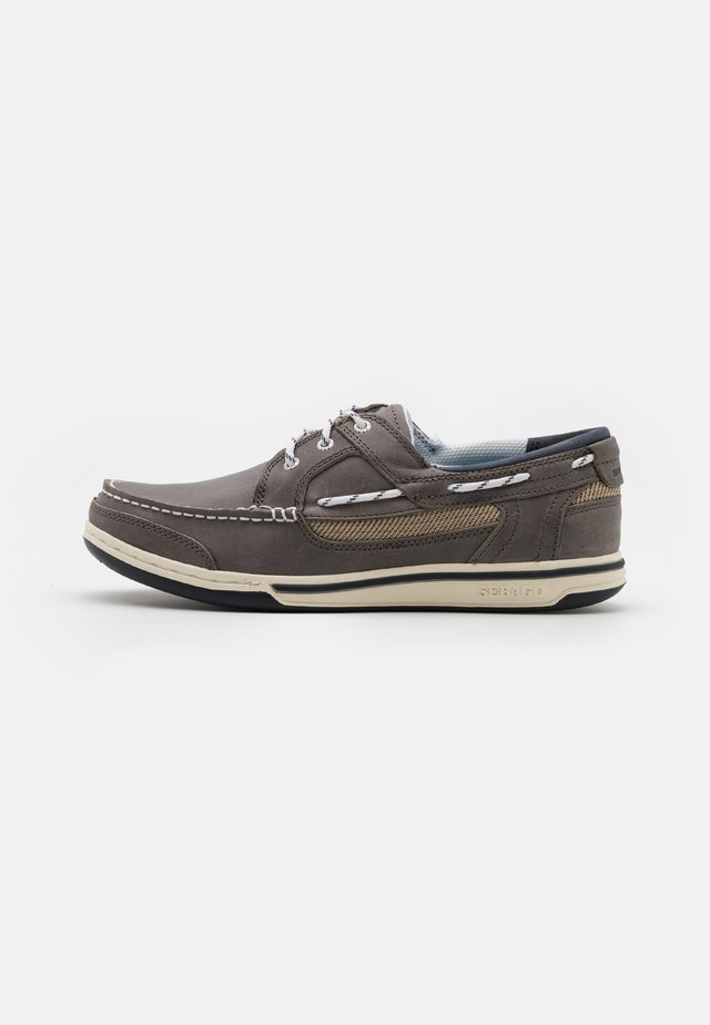 Boat shoes - dark grey/taupe
