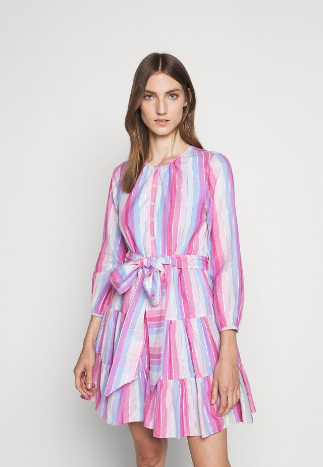 BUTTON DOWN TIERED MINI - Day dress - purple/pink/multi