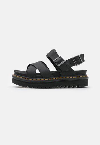 VOSS - Platform sandals - black hydro