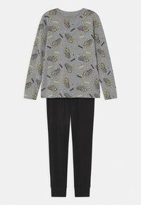 Name it - NKMNIGHT TIGER GLOW SET - Pyjama set - grey melange - 0