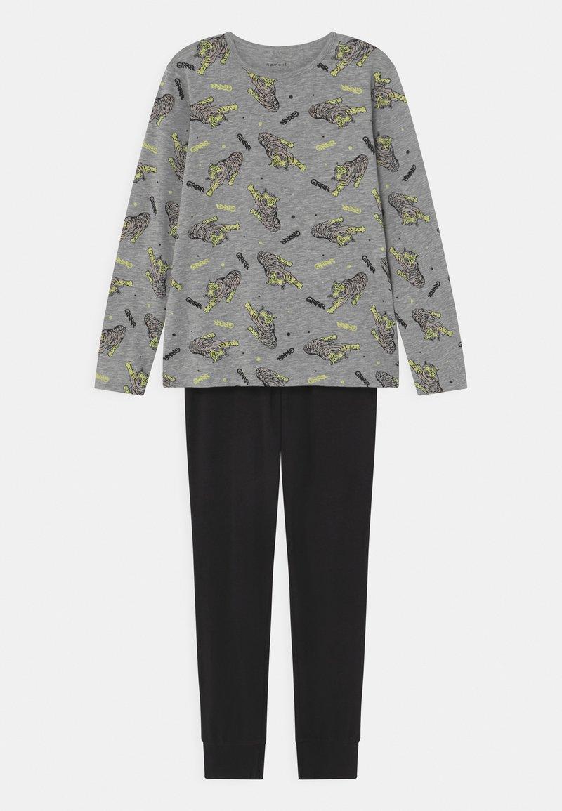 Name it - NKMNIGHT TIGER GLOW SET - Pyjama set - grey melange