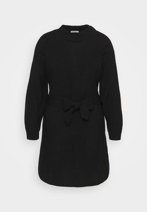 BELTED DRESS - Jumper dress - black