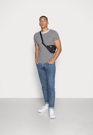 SLIM 2 PACK  - Print T-shirt - black beauty/bright white