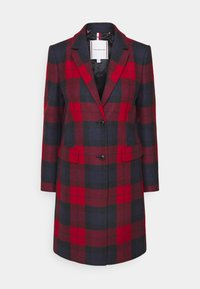 Tommy Hilfiger - BLEND CHECK CLASSIC COAT - Classic coat - primary red - 0