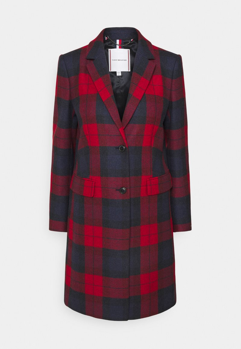 Tommy Hilfiger - BLEND CHECK CLASSIC COAT - Classic coat - primary red