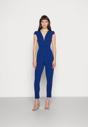 SHORT SLEEVE V NECK - Jumpsuit - blue