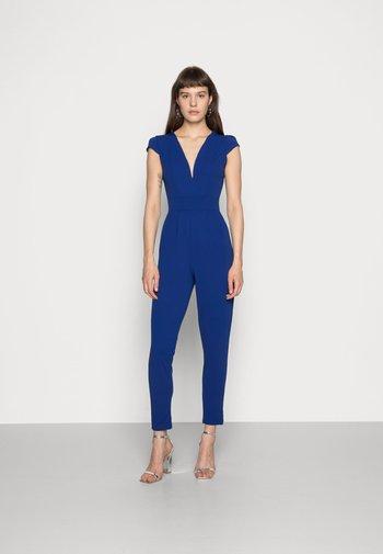 SHORT SLEEVE V NECK - Overall / Jumpsuit - blue