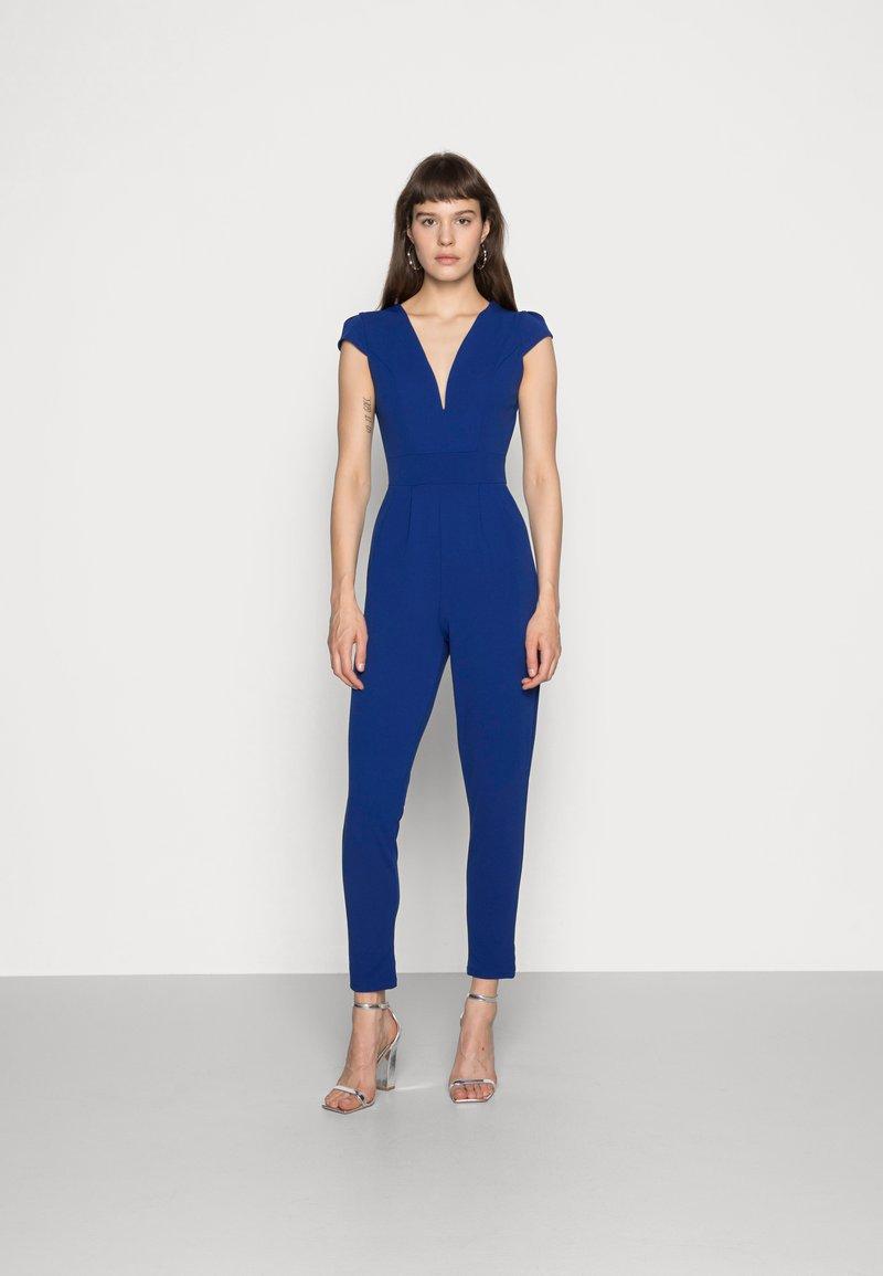 WAL G. - SHORT SLEEVE V NECK - Jumpsuit - blue