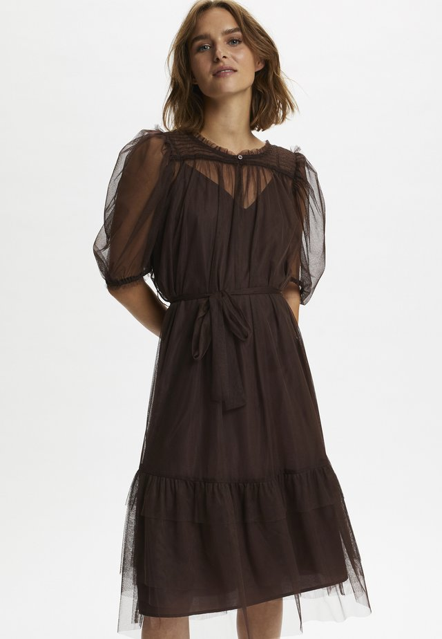 DIANACR - Day dress - dark brown